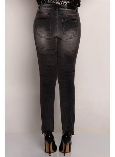 Vero Moda Vero Moda 10141290 Füme Melanj Kadın Pantolon Füme
